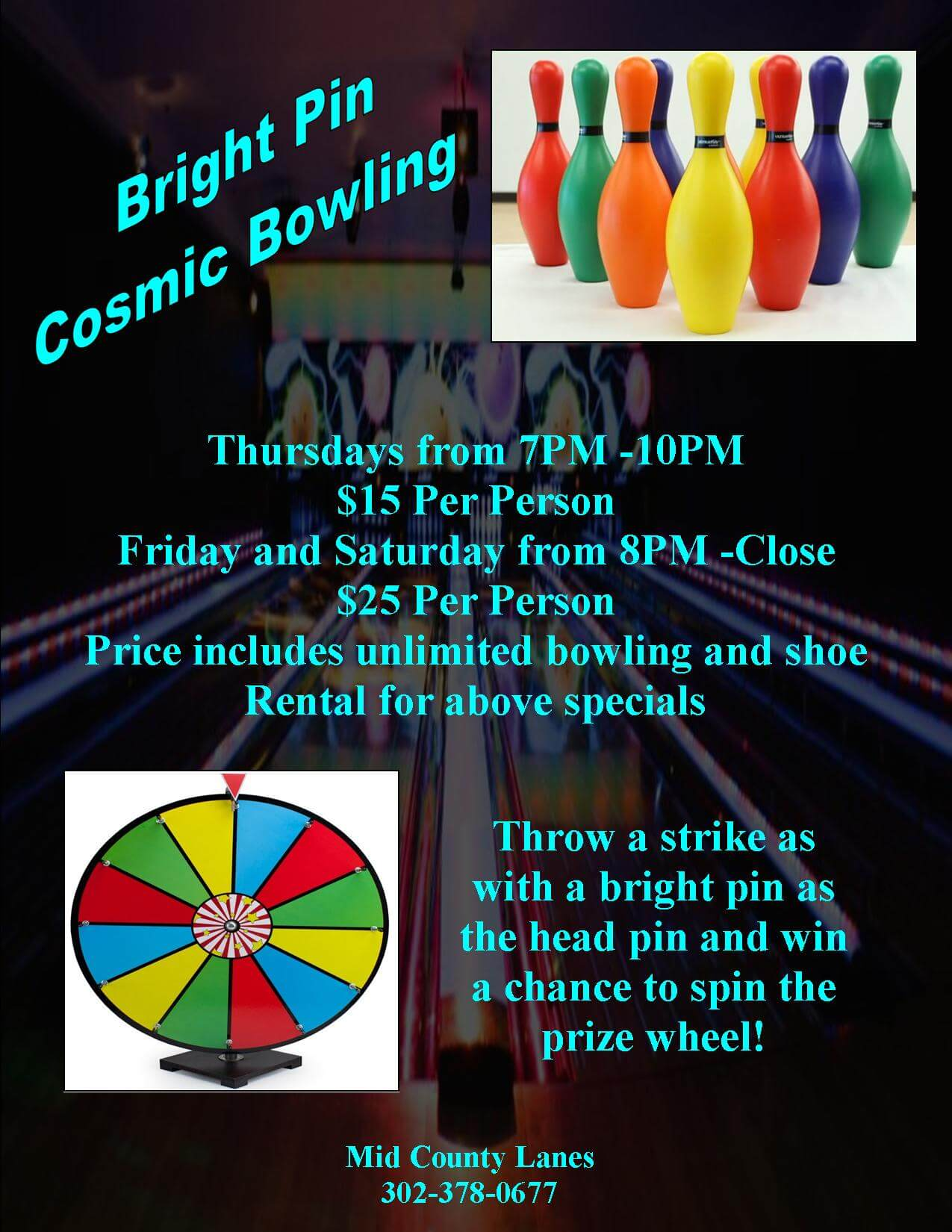 bright pin bowling special