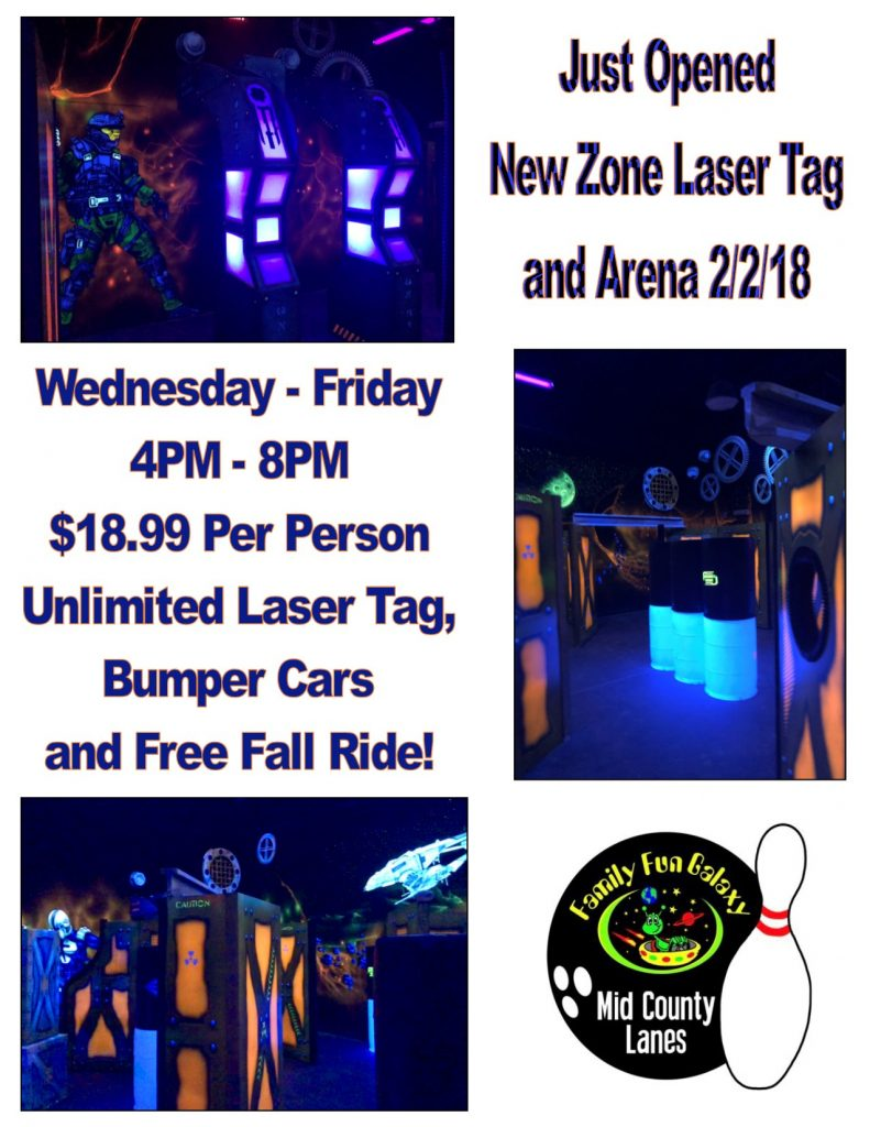 Laser Tag at Mid County Lanes