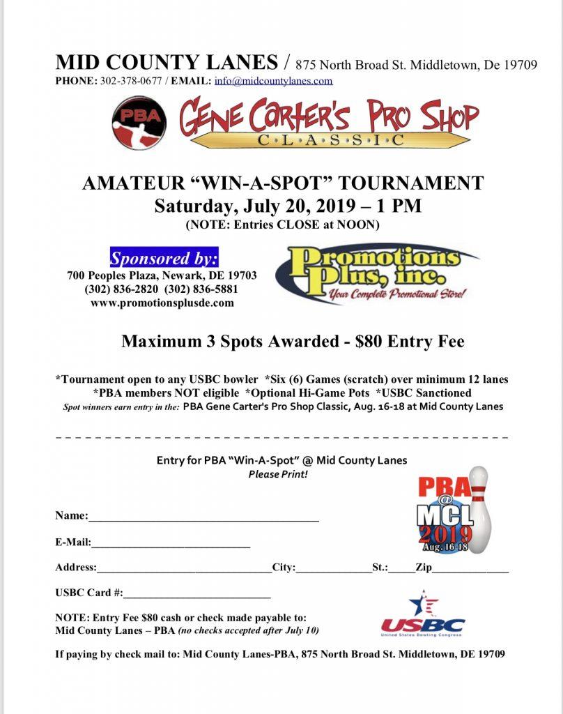 Win-A-Spot Tournament